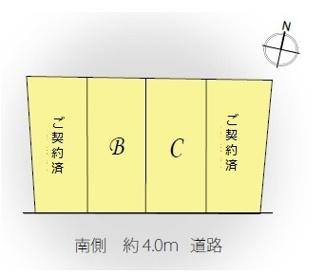 【区画図】Lieu Komforta  南長崎 Ⅴ B号棟