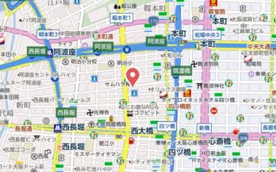 【地図】クロスレジデンス大阪新町
