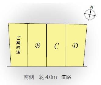 【区画図】Lieu Komforta  南長崎 Ⅴ D号棟