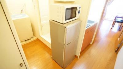 電子レンジ・冷蔵庫つき♪