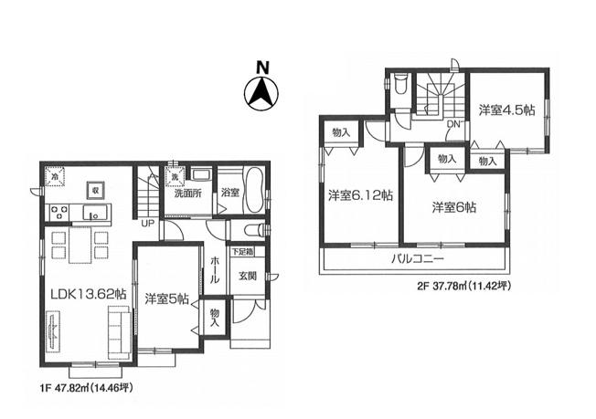 【区画図】東村山市美住町1丁目 新築戸建 全4棟 4号棟