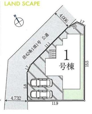 【区画図】入間市小谷田1丁目 全1棟