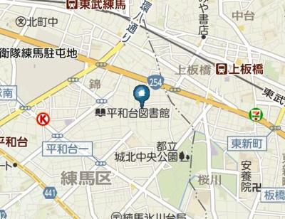 【地図】メゾン・ド 練馬(メゾン・ド ネリマ)