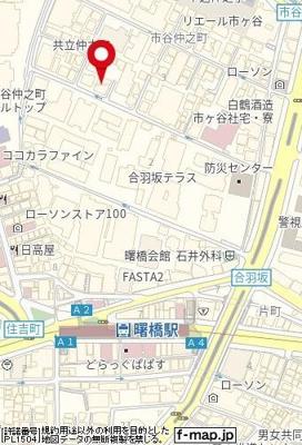 【地図】市谷仲之町テラス