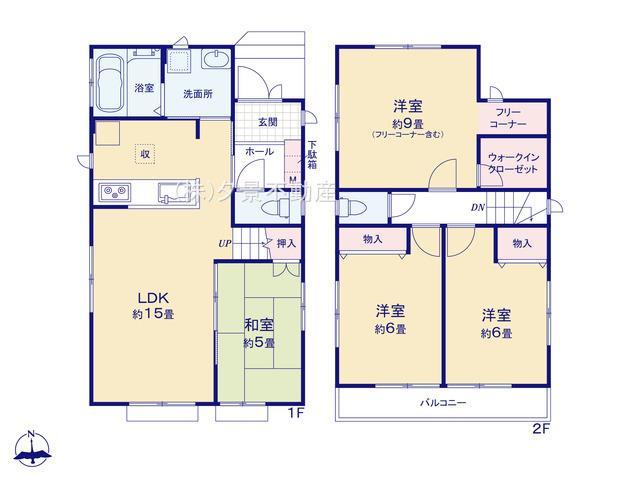 川口市戸塚鋏町14(1号棟)新築一戸建てハートフルタウン