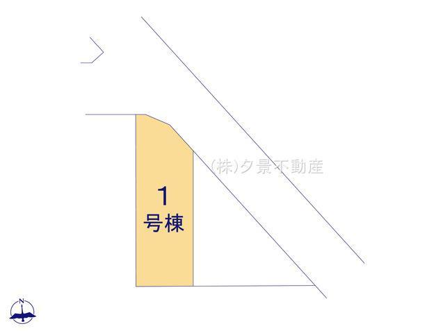 【区画図】川口市戸塚鋏町14(1号棟)新築一戸建てハートフルタウン
