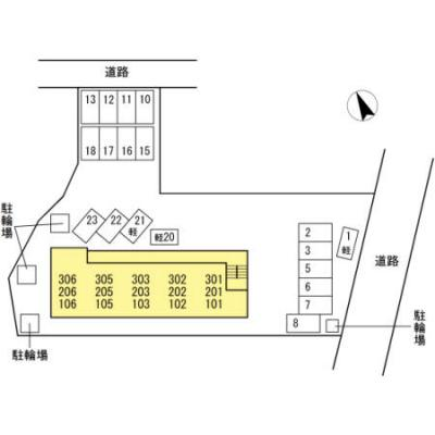 【区画図】ハーズリッチ北高見