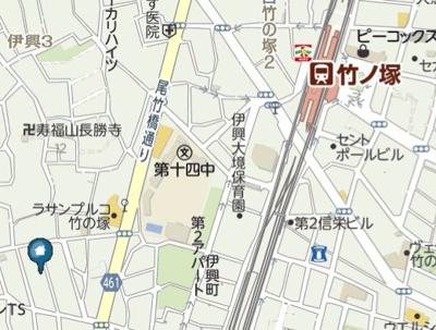 【地図】イーハトーヴ竹ノ塚(イーハトーヴタケノツカ)
