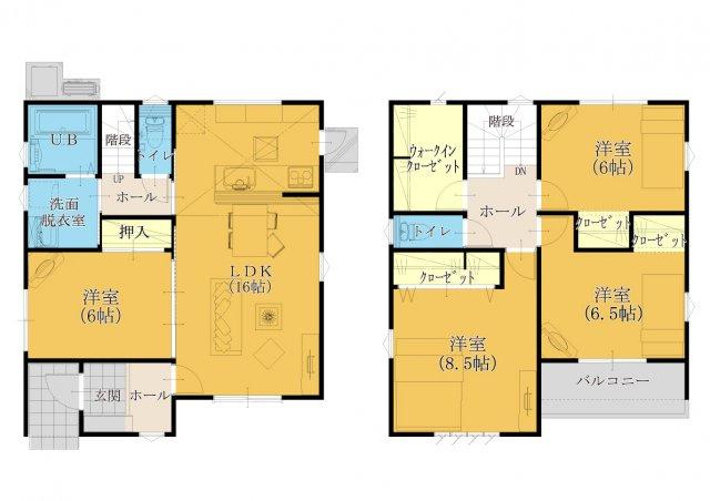 【32坪4SLDK】 全居室、フローリング設計☆