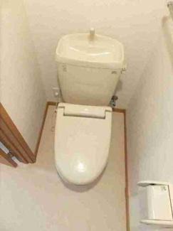 タオル掛けがあるトイレです