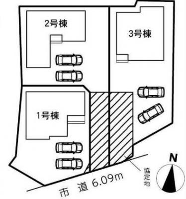 【区画図】浜松市北区細江町中川 20-1期 新築一戸建て 3号棟 ID