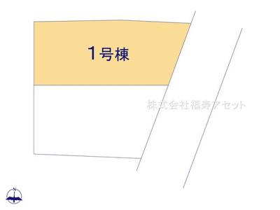 【区画図】葛飾区東金町3丁目新築戸建て