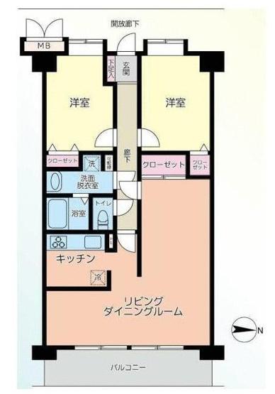 専有面積65.28平米、2021年4月末に全室リノベーション済2LDK