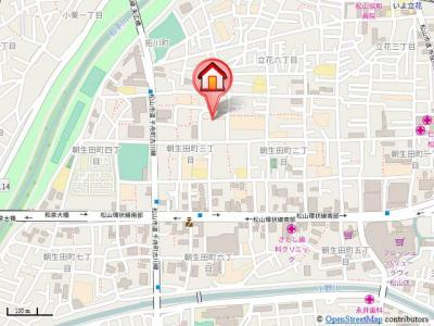 【地図】サニーコート A.B.C.D・