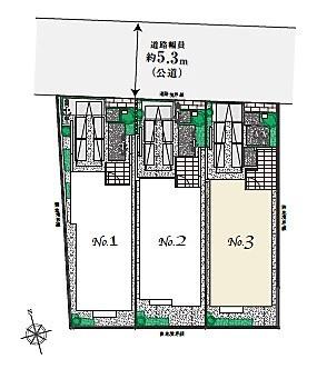 【区画図】杉並区上荻3丁目  新築戸建 №1 7880万円