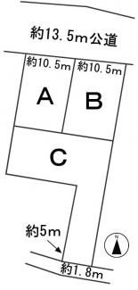 【区画図】57359 各務原市川島河田町分譲地