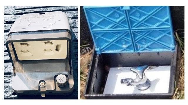 外部水栓・外部電源。ガーデニングや洗車、イルミネーション、電気自動車の充電、DIYなど多用途で活用。