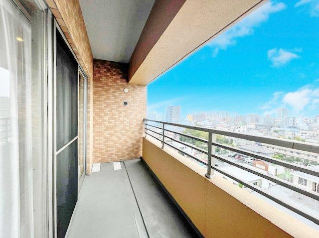 南側バルコニーからの眺望 9階住戸につき眺望良好です