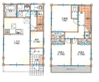 参考プラン 建物面積89.42m2 建物価格1522万円