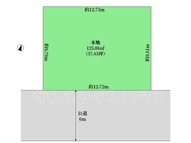 【土地図】東大和市清水4丁目 建築条件付売地