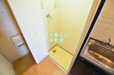 洗濯機置き場には防水バンもあります
