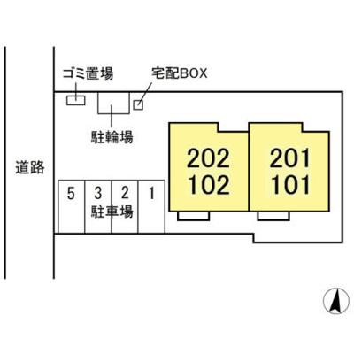 【区画図】仮)D-room松飛台