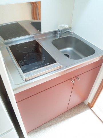 【キッチン】レオパレスソレーユ