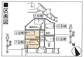 【区画図】新築建売 花巻市松園町第2 6号棟