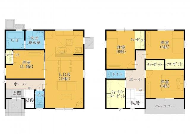 30坪4SLDK。全室洋室設計です!和室は必要ないかなぁ…という方にオススメ!主寝室にも使えます♪