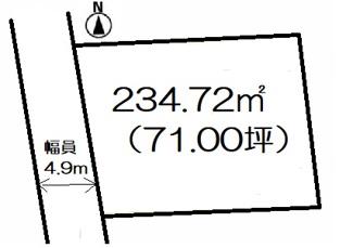 【土地図】高崎市井野町売地