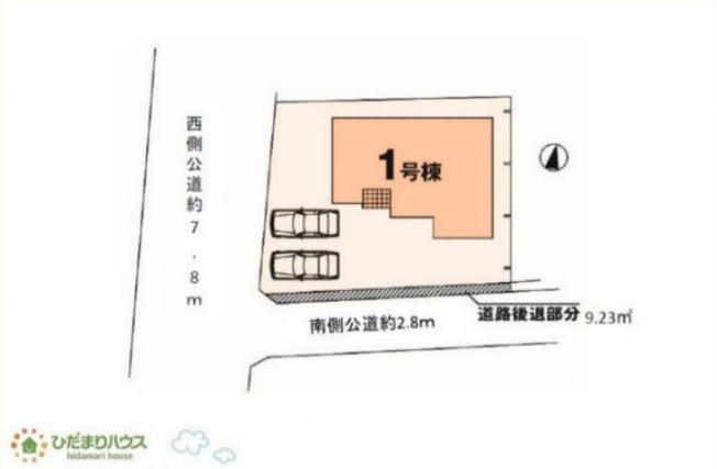 【区画図】ひたちなか市十三奉行1期 新築戸建