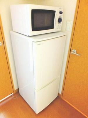 冷蔵庫・電子レンジ標準装備