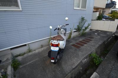 バイク、自転車置き場