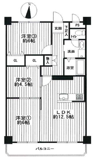 【3LDK】全洋室仕様☆全面リフォーム済み☆対面式キッチンに変更♪南向きバルコニーで陽当たり良好です☆