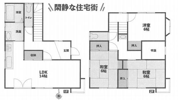 土地面積100.18平米、建物面積84.27平米、ファミリータイプ3LDK