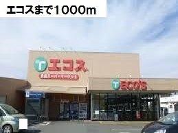 エコスまで1000m