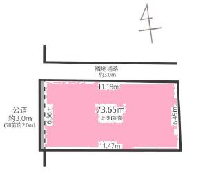 【区画図】杉並区荻窪3丁目 新築戸建 7980万円