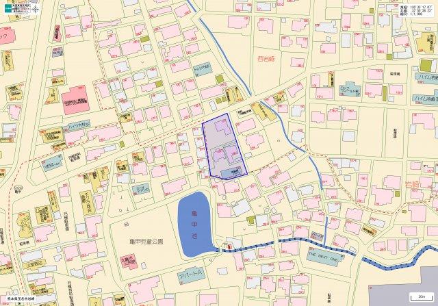 【地図】ルミナーレ駐車場