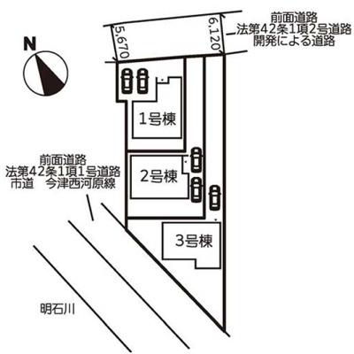 【区画図】神戸市西区玉津町今津 3号棟