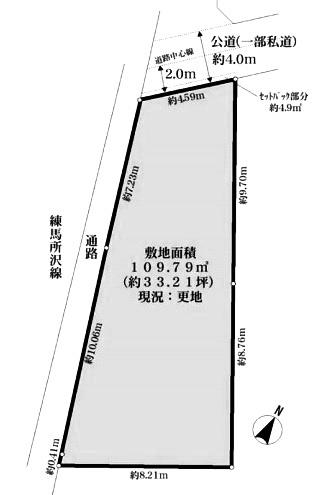 土地面積33.21坪・現況更地につきすぐにご建築可能です♪