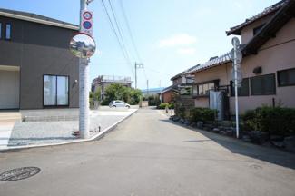 【前面道路含む現地写真】富士市天間第9 新築戸建 全2棟 (1号棟)