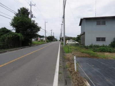 【前面道路含む現地写真】比企郡鳩山町売地