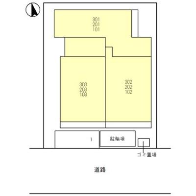 【区画図】仮)D-room今津
