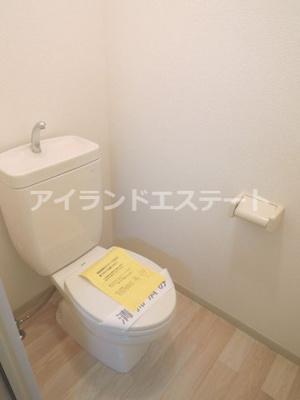 【トイレ】レヴィーユ 駅徒歩5分 バストイレ別 南向き