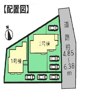 【区画図】富士市富士岡Ⅰ 新築戸建 全2棟 (1号棟)