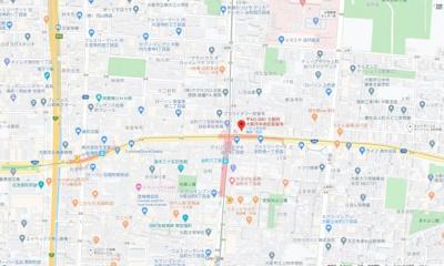 【地図】モデラート上町台