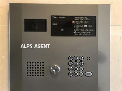 TVモニター付きオートロックインターフォン 防犯カメラ設置