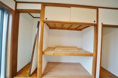 和室の収納の様子です。天袋のついた大きな収納です。