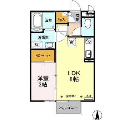 【区画図】総社町総社 群馬総社駅 2階 1LDK