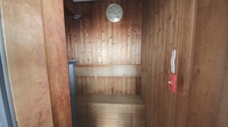 大浴場内のサウナ